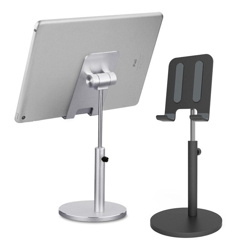 Настольная подставка-держатель из алюминиевого сплава для планшетов и телефонов, регулируемая подставка для планшетов, настольное креплен...