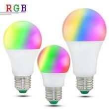 Lámpara Led RGB 5W 10W 15W bombilla led E27 regulable 220V RGBW RGBWW punto de luz de Control remoto Ampolleta Led RGB con la memoria