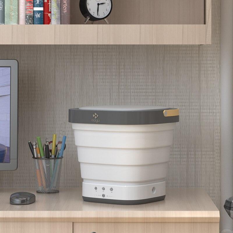 HA-Life Folding Mini Washing Machine Portable Compact Laundry Dehydrated for Business Travel XPB08-F1C enlarge