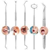 Стоматологическое зеркало из нержавеющей стали, комплект для отбеливания зубов, 1 шт./5 шт.