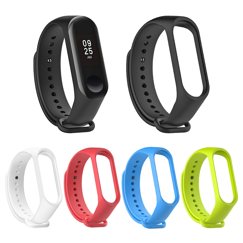 Xiaomi Mi Band 3 4 Sports Strap Watch Band Silicone Wrist Strap For xiaomi mi band 3 4 Smart Bracele