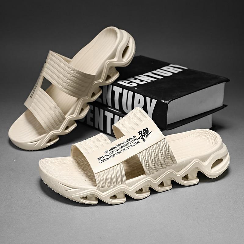 Men's slippers For Men Summer 2021 Outdoor Non-Slip Lightweight Beach Sandals Casual Wear Flip-Flop Half Sandals Slippers Men