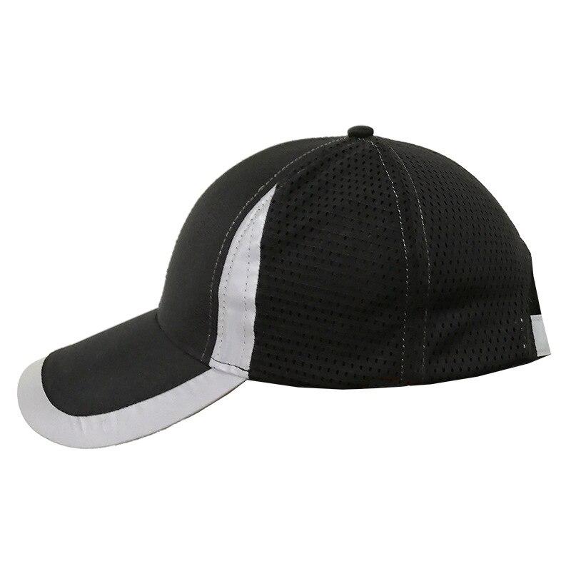 De Seguridad negro gorra de béisbol reflectante ligero transpirable seguridad sombrero