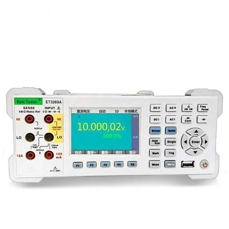 ET3260A 6 1/2 أرقام 12A قياس التيار منضدي مقياس رقمي متعدد مع 3.5 بوصة عالية الدقة الرقمية المتعدد