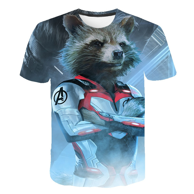 3D t-shirt kids clothes Batman Spiderman Ironman Superman Captain America T shirt Costume Comics Harajuku Superhero boys clothes