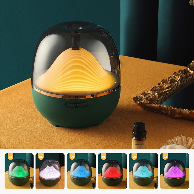 creative-mountain-humidifier-aroma-diffuser-dc24v-electric-diffuser-remote-control-time-setting-small-mist-maker-for-bedroom