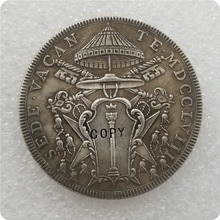 عملات معدنية تذكارية لهواة التجميع الولايات الإيطالية 1758 1 Scudo-Clement الثامن Sede Vacante نسخ عملات-عملات معدنية طبق الاصل ميداليات العملات المعدنية المقتنيات