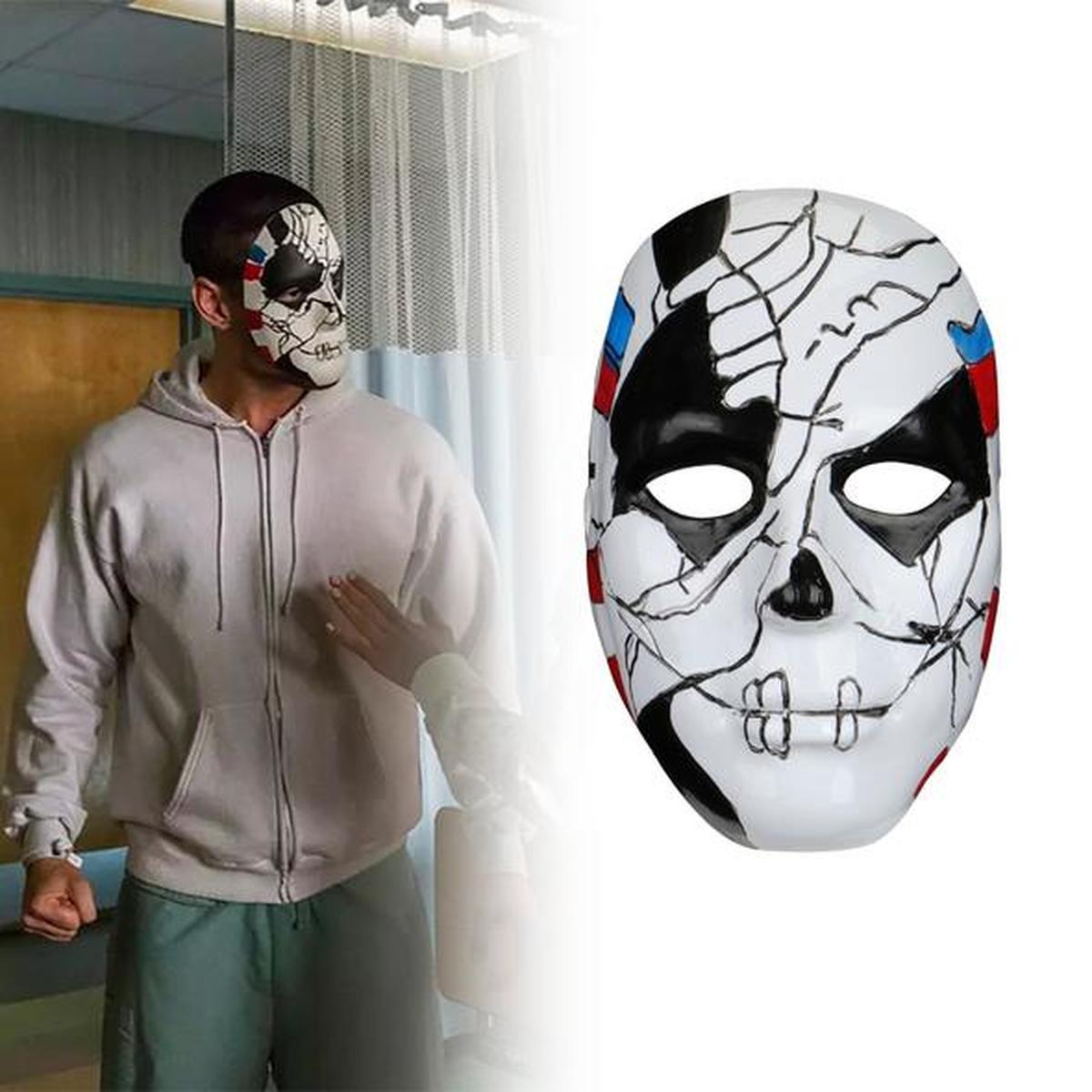 Máscara de demonio fantasma de Halloween The Punisher 2 Billy Russo, máscara de Cosplay, disfraz de plástico, utilería para mascarada, disfraz con capucha, Máscara