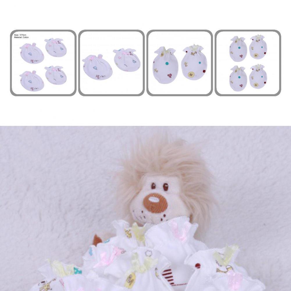 Стильные оригинальные детские варежки с мультяшным рисунком и защитой от царапин, детские варежки, детские варежки, 2 пары