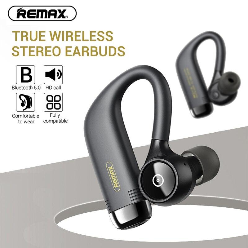 Nuevo REMAX TWS-13 inalámbrica estéreo de auriculares con luz Hifi reproductor de música Anti-caída de Trasero audífonos colgantes de Audio de alta resolución