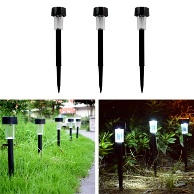6 pcs solar led pathway driveway light dock path step road safety marker white blue red light LED Solar Garden Light Solar Landscape Pathway Light Solar Lawn Lamp for Patio Yard Path Walkway Decor Solar LED Light Outdoor