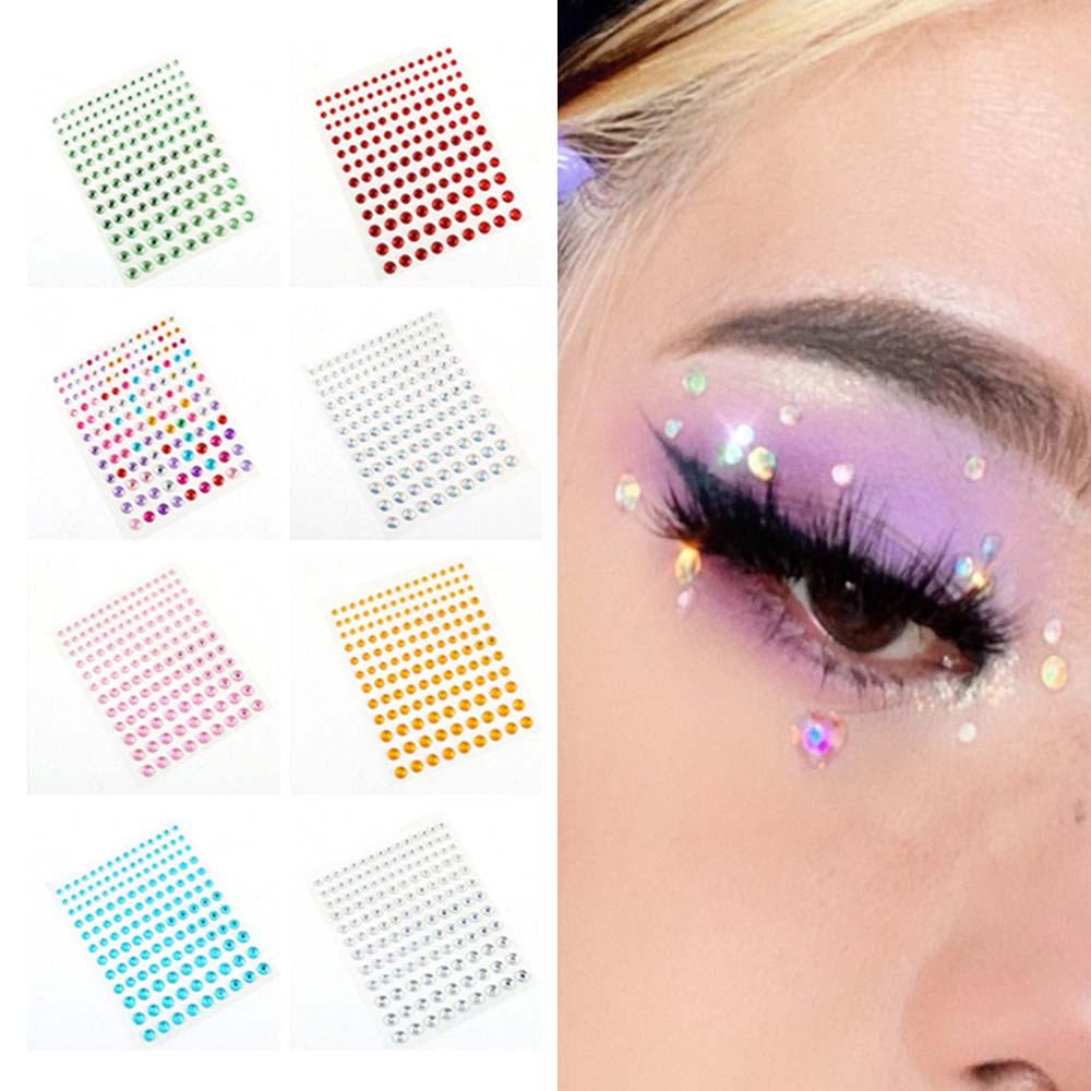 1sheet 3/4/5/6mm Fashion Self Adhesive Rhinestone Stickers Crystal Sticker for Nail Beauty Face Make