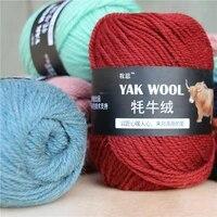 5pcs 500g yak wool 3 strand wool yarn hand knitted medium coarse sweater coat yarn crocheted scarf hat wholesale wool yarn