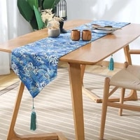 japan style high end tablecloth flag shoes cabinet cover geometric cotton bed runner simple color table cloth