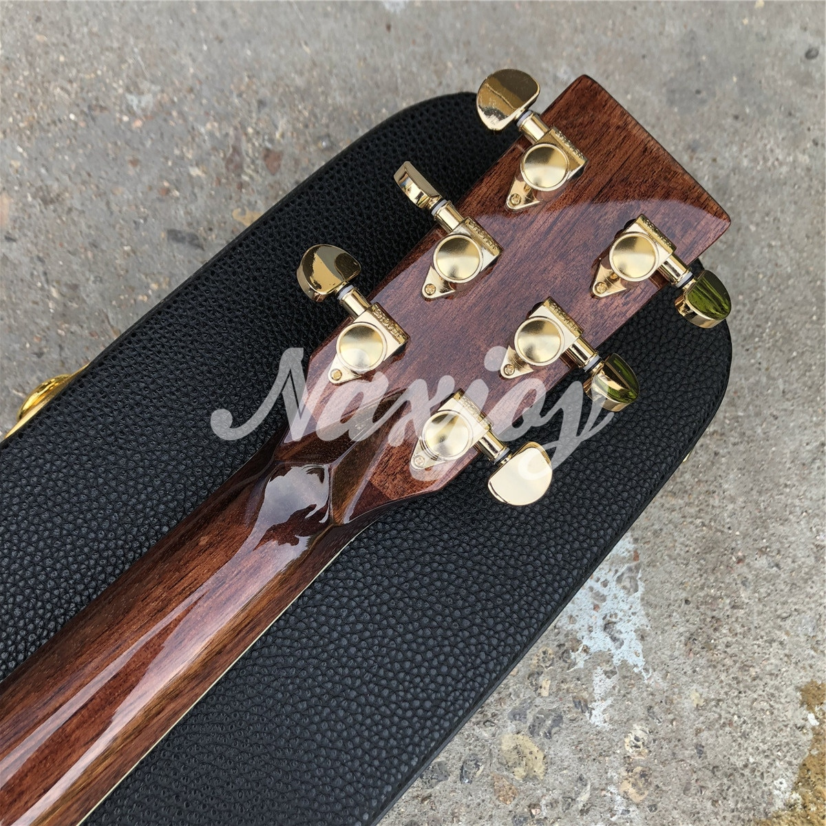 Cutaway D style Solid Spruce Acoustic Guitar,Rosewood Back and Sides 6 strings Guitarra,Real Photos enlarge