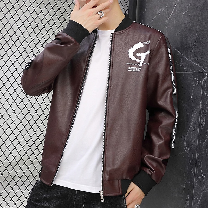 Bormandick Fall/Winter Men's PU leather jacket in fashionable and functionable leather style matching many other styles LT825-60