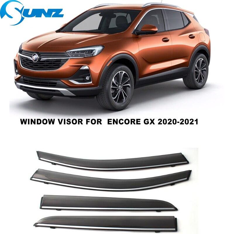 Side Window Deflector For  Buick Encore GX 2020 2021 4pcs Window Visors Weathershields Wind Rain Guards SUNZ