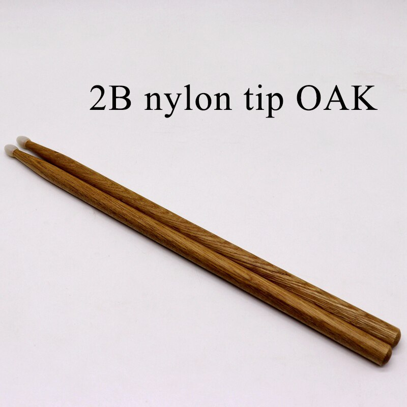 Tambor de madera de roble con punta de nailon 2B, calidad, envío gratis