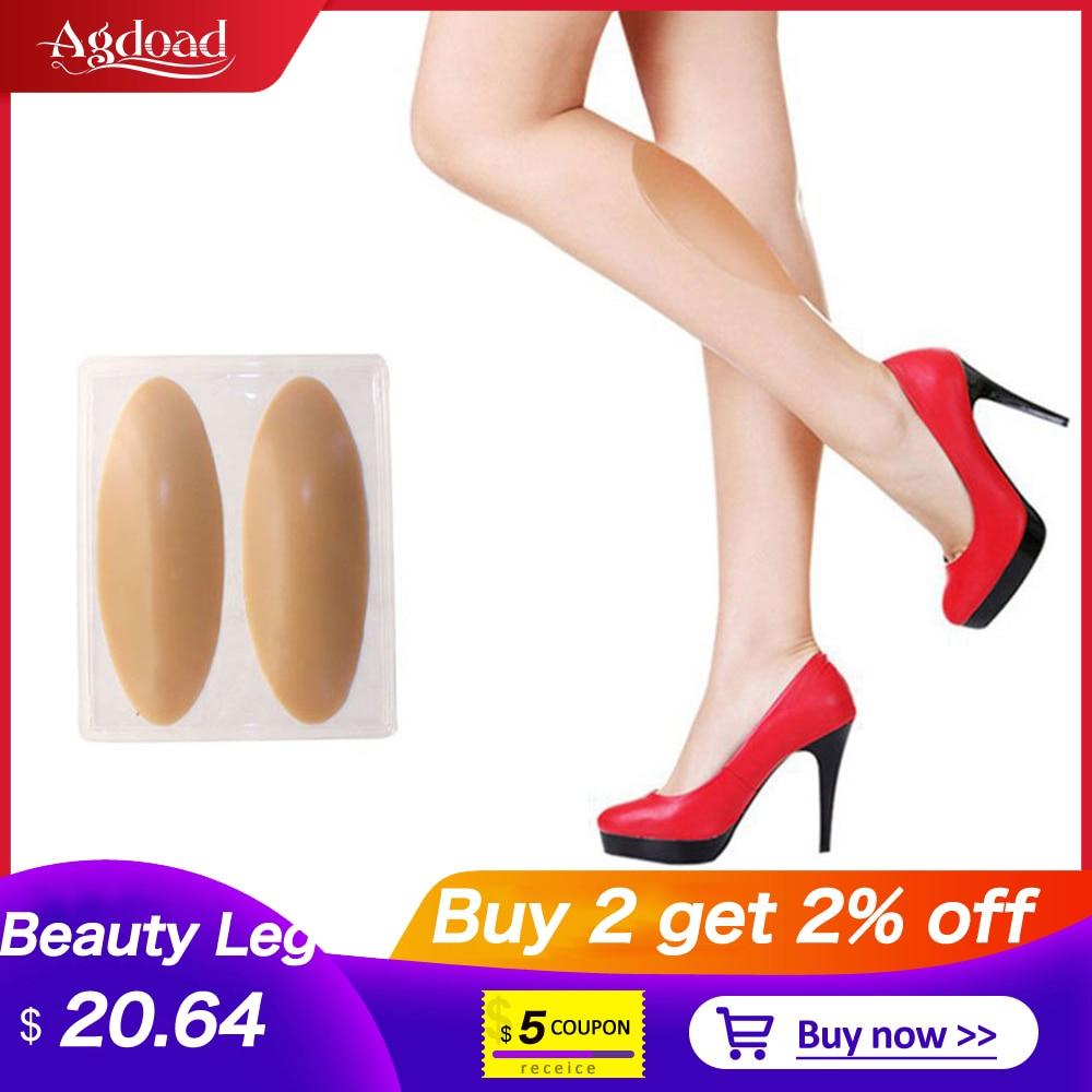 1Pair Silicone Leg Onlays Natural Self-adhesive Leg Correctors For Crooked Thin Legs Soft Leg Gel Pa
