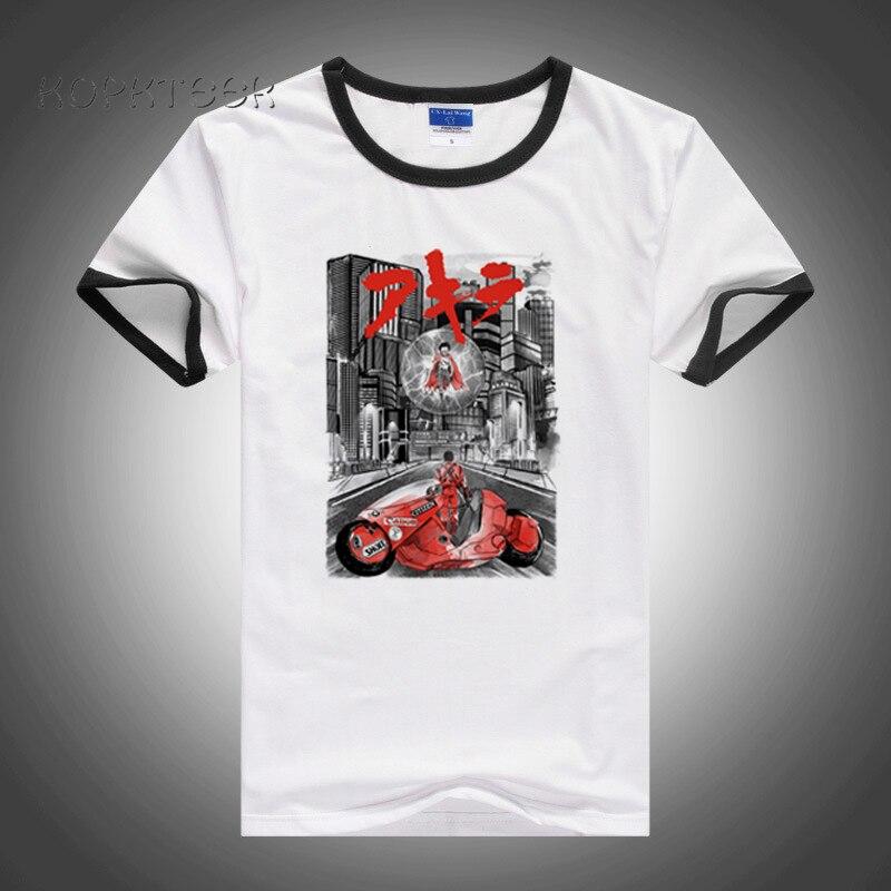 Camisetas de gran tamaño de estilo urbano, camiseta de Neo Tokyo para hombre, camiseta Akira Shotaro Kaneda, camiseta de manga corta 100% de algodón con cuello redondo