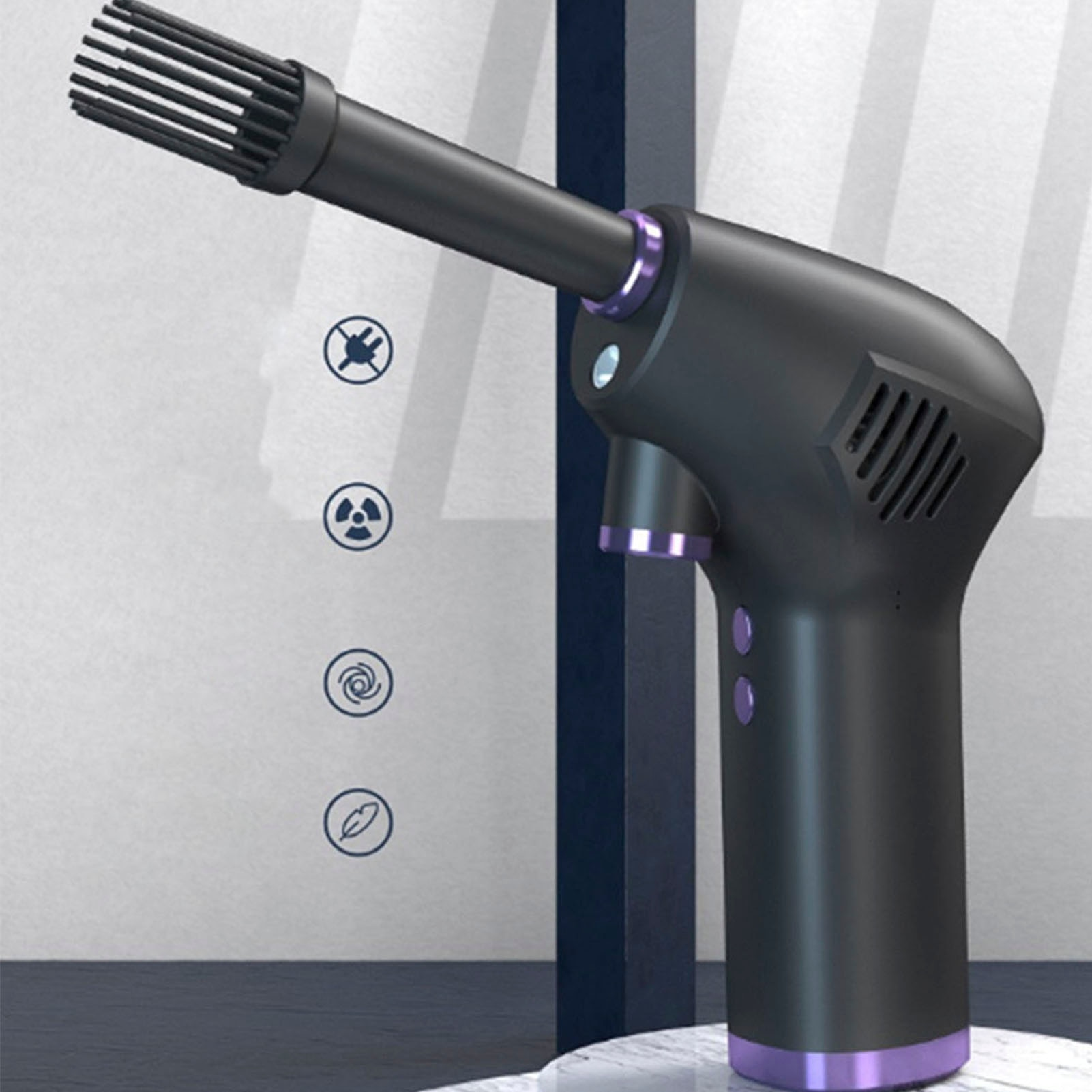 Cordless Air Duster 15000mAh Rechargeable Keyboard Cleaner Blower High-power computer air conditioner cleaning machine