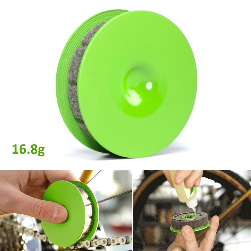 Lubricante lubricante para cadena de bicicleta con imán, dispositivo de rodillo para engranaje de bicicleta, accesorios prácticos para bicicleta, herramientas de reparación de cadena de bicicleta