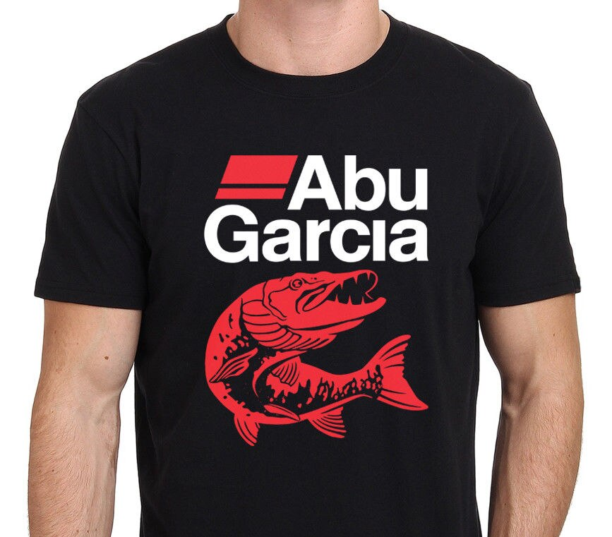 Camiseta de algodón con estampado de ABU GARCIA Fishinger para hombre, camisa...