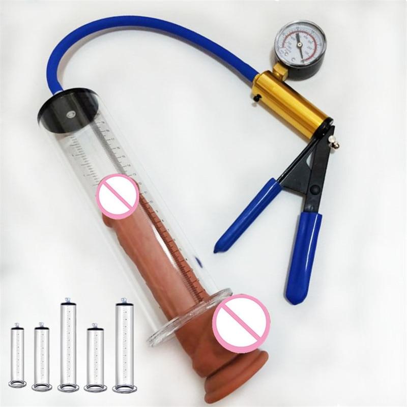 Penis Pump Sex Toys For Man Penis Enlargement Vacuum Pump Male Penis Extender Enhancer Masturbator Penis Trainer Adult Erotic 18