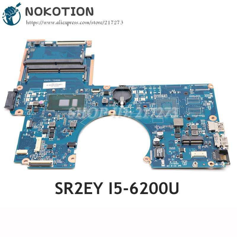 NOKOTION ل HP بافيليون 15-AU اللوحة الأم للكمبيوتر المحمول 15.6 بوصة SR2EY I5-6200U 856224-601 856224-001 DAG34AMB6D0 اللوحة الرئيسية