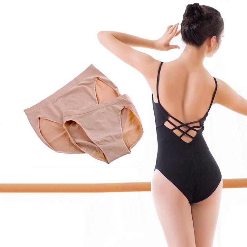 USHINE женское нижнее белье телесного цвета, безопасные трусики, цветные балетные трусики для танца живота