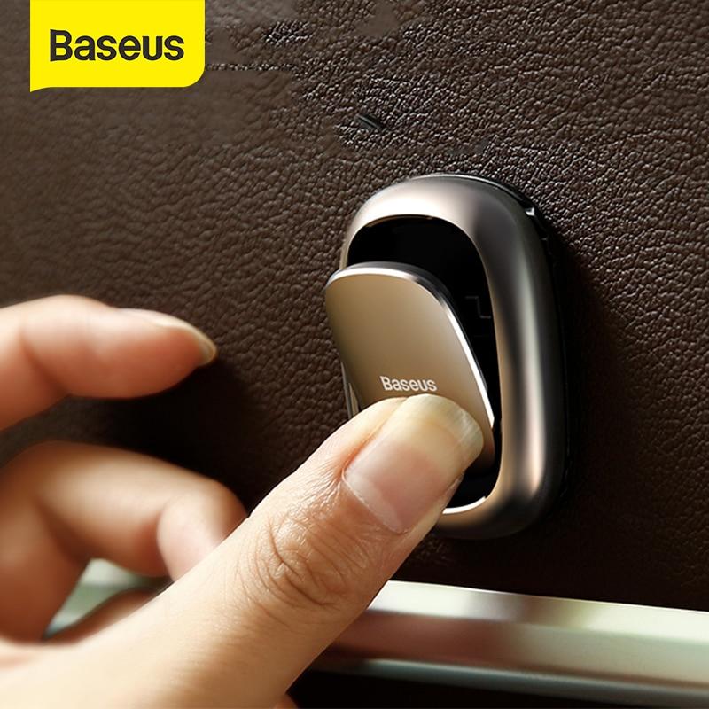 Baseus 2 pçs gancho do carro adesivo titular auto prendedor clipe para cabo fone de ouvido chave parede cabide