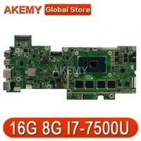akemy t304ua 8g i7 7500u laptop motherboard for asus transformer pro t304u t304ua 12 6 mainboard 100 test