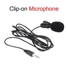 Портативный мини-микрофон с креплением, конденсаторный микрофон для звуковой студии, проводной микрофон для ПК и ноутбука