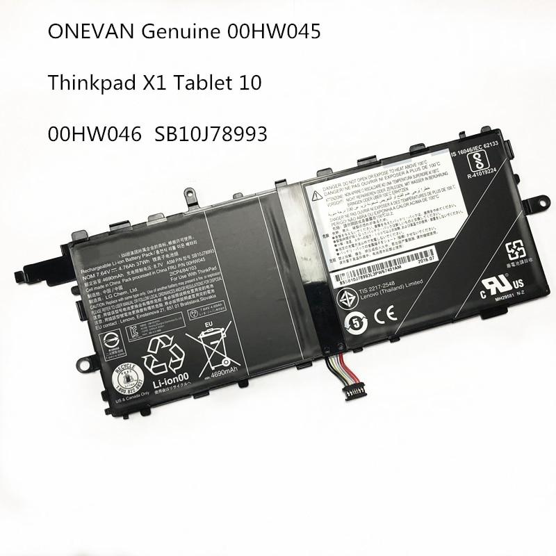 37wh 7.64v genuíno novo 00hw045 00hw046 bateria do portátil para lenovo thinkpad x1 tablet 20gga00l00 sb10j78993 sb10j78994