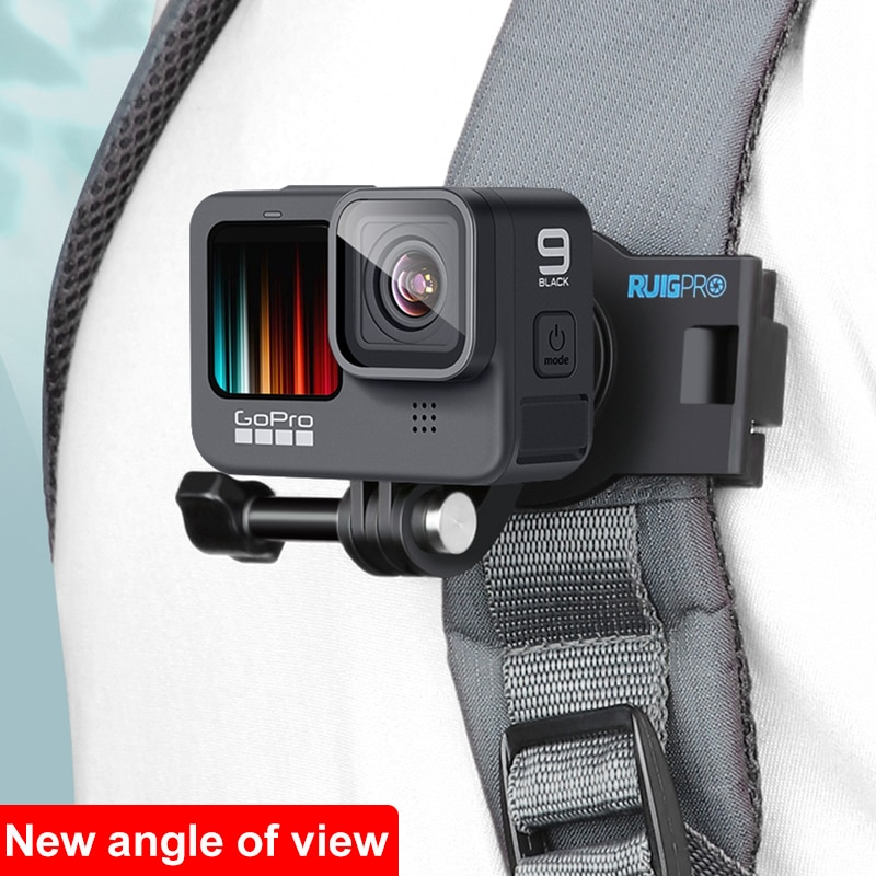 360 Degree Rotary backpack clip accessories for gopro hero 10 9 8 7 6 5 4 3 insta360 one r Sjcam Eken Shoulder Belt  phone fixed portable 360 degree rotary backpack hat clip clamp mount for gopro hero 4 3 3 2 for sj4000 sj6000 at200 camera accessory