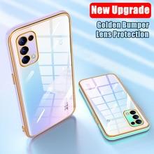 Clear Case For Oppo A72 A73 A52 A53 A92 A93 A9 F17 Reno 4 Lite 5 Pro 4F Transparent Cover Case For Realme 7 Pro 7i 6i 6 6S 5 5S