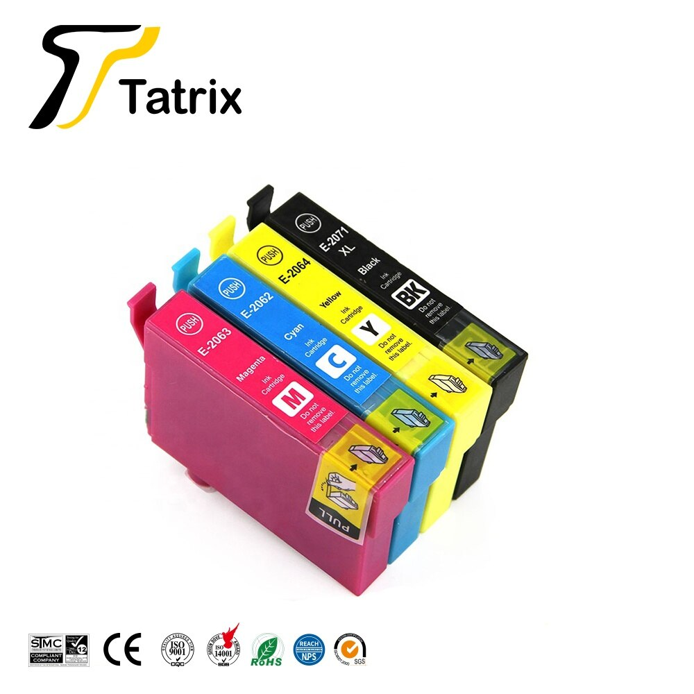 Tatrix T2061-4 T2071 Premium Cartouche Dencre Compatible T207120-AL T206120-AL T206220-AL T206320-AL T206420-AL pour Epson XP-2101