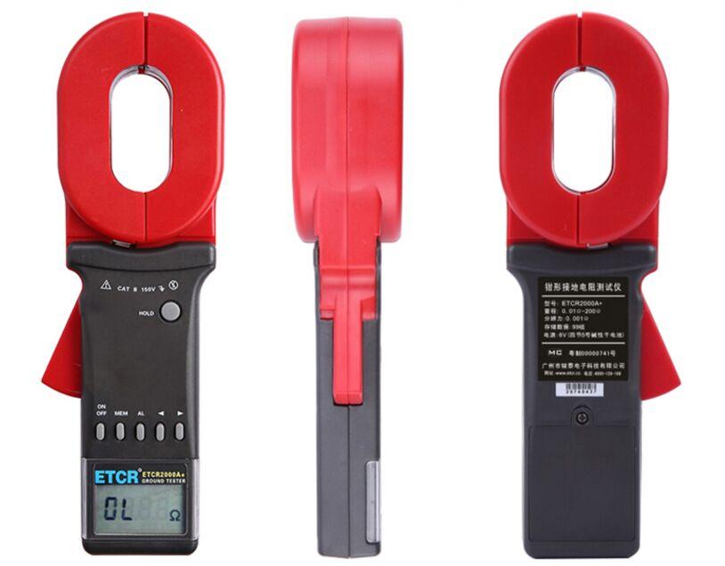 ETCR2000A + pinza Digital en resistencia de tierra medidor de prueba 0,01-200 ohm 99 juegos