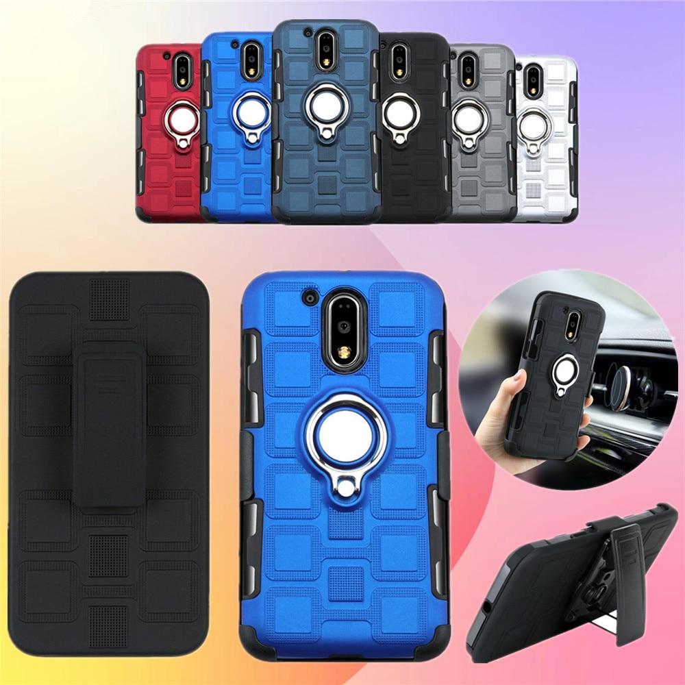 Caso con giratorio Clip de cinturón para Motorola Moto G4 E4 G5 E5 G5S G6 G7 E Plus jugar E6 P30 nota E5 jugar a G7 de la UE cubierta magnética