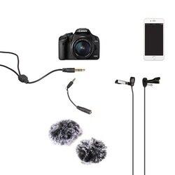 CoMica Mikrofone 6,0 M Dual-kopf Revers Mikrofon Zwei-weg Audio Anti-Störungen Mikrofon für Interview Vlogging livestream Youtube