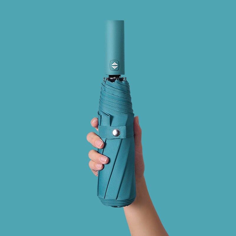 Résistant au vent pliant automatique parapluie pluie femmes Auto luxe grand coupe-vent parapluies pluie pour hommes noir revêtement