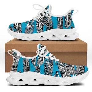 WHEREISART Vintage Blue Bohemian Pattern Sneaker for Women 2021 Fashion New Non-slip Bottom Vulcanized Shoes Autumn Casual Flats