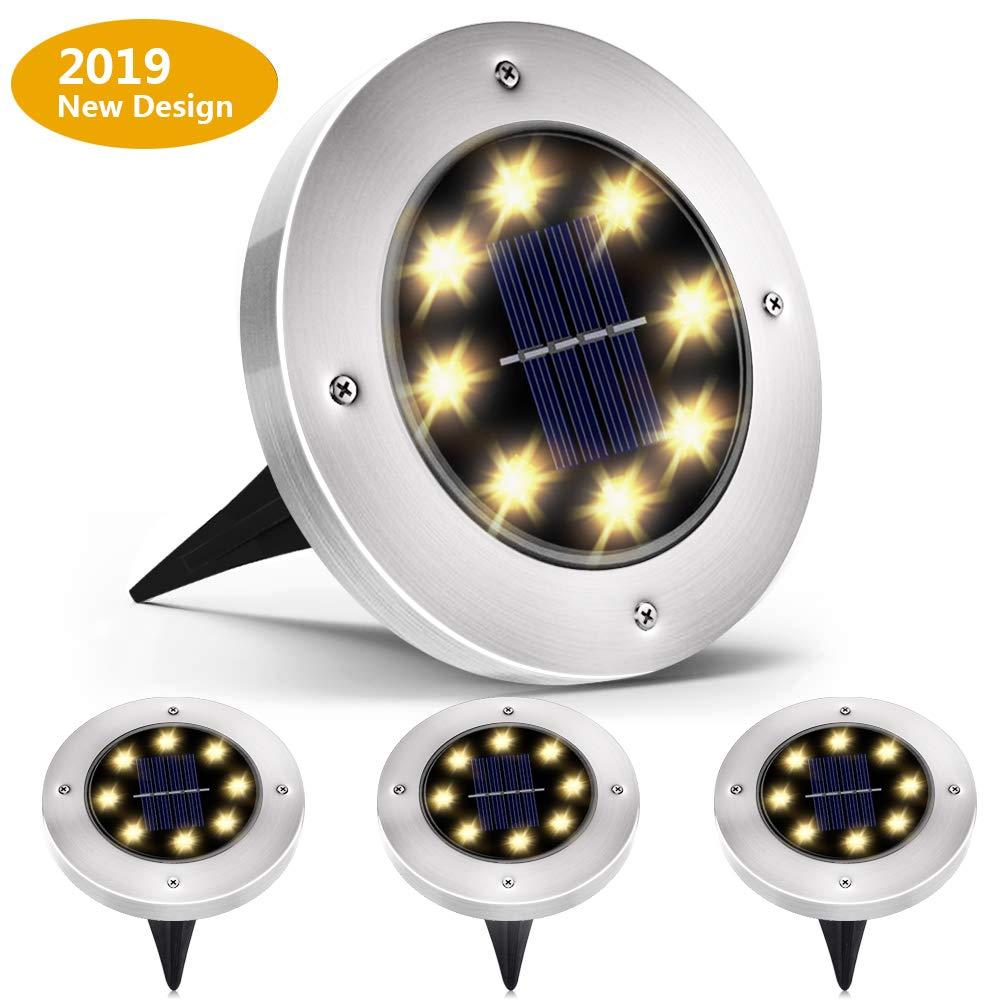 12led luces de tierra luces de césped Luz de energía Solar bajo la lámpara de tierra camino al aire libre camino de jardín lámpara Led luz de noche
