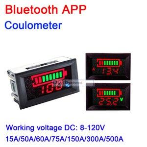 Bluetooth APP Battery Monitor DC 8-120V 50A 150A 300A 500A Capacity Tester METER F/ LiFePO4 Li-ion lithium lead-acid 12v 24v 36v
