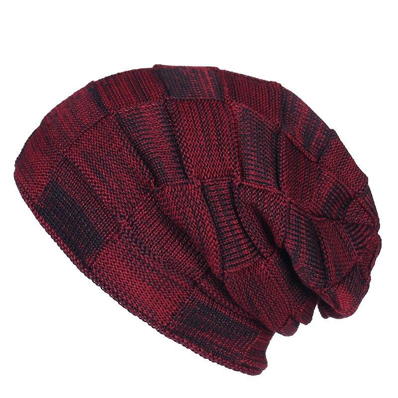 Winter Hats Flex Fold Lattice Double-deck Increase Down Set Head Cap Men And Women Package Head Cap Earmuffs Knitting Hat