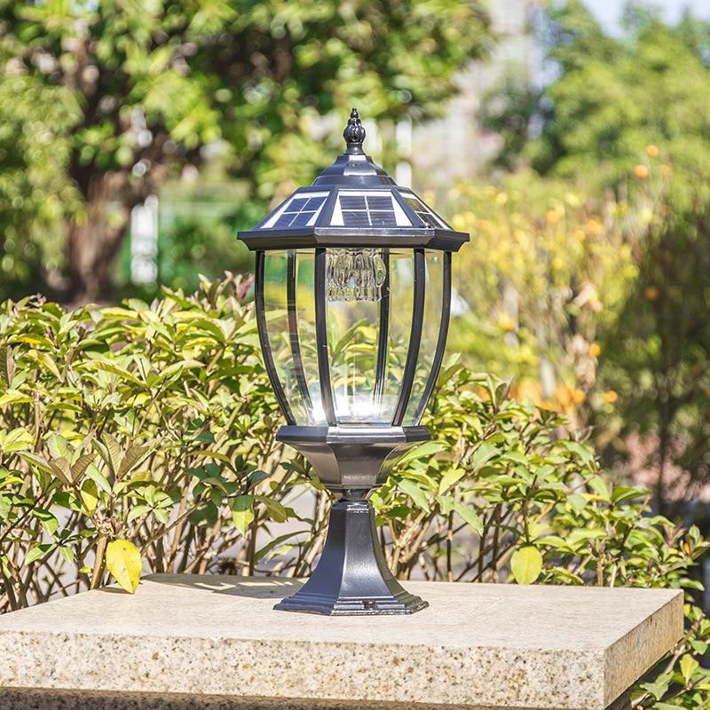 LED Solar Post Lamp Light  Outdoor Waterproof Fence Pathway Landscape Wall Lamp For Garden Decoration Street Solar Light