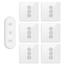 Tuya Smart Life штора переключатель пульт дистанционного управления жалюзи двигатель рольставни RF + WIFI приложение таймер Google Home Aelxa эхо умный дом