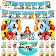 Happy Birthday Party Kids Favors Decoration Baby Shower Balloons Banners Hero Anime One Piece Theme