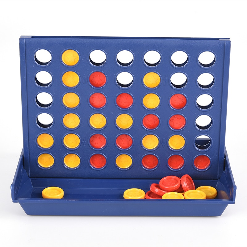 1 pcs new arrival hot sale connect four in a row 4 in a line board game kids children fun educational plastic challenging toy Newest Connect 4 Game Classic Master Foldable Kids Children Line Up Row Board Puzzle Toys Gifts Board Game