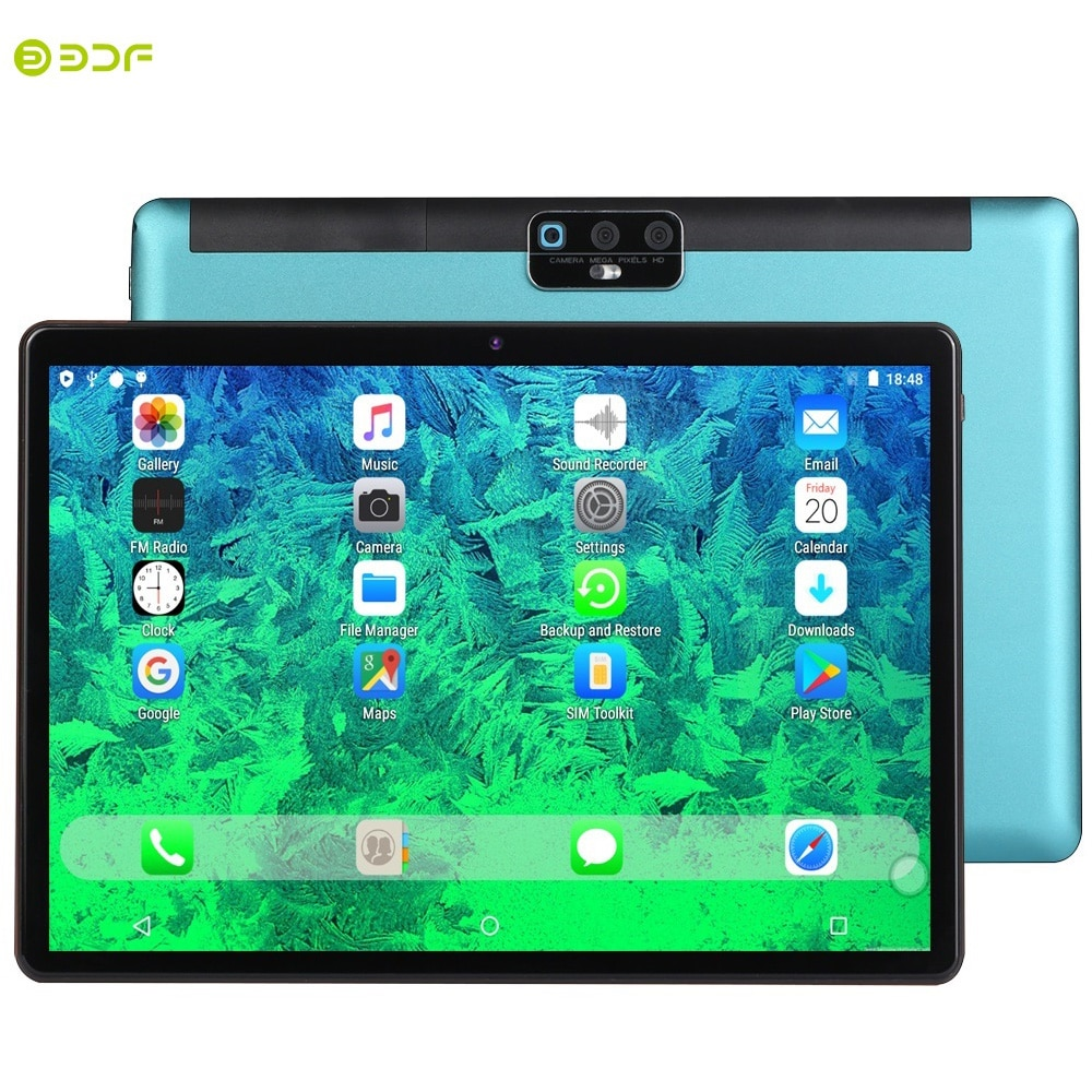 BDF H1 Pro New Tablet 10.1 Inch Tablet Pc Octa Core 2GB/32GB Android 9.0 OS Dual SIM 4G LTE Phone Call WiFi Bluetooth Pc Tablet